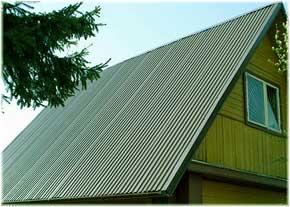 скатная крыша из профнастила