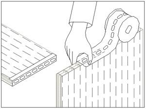 обработка торцов панелей