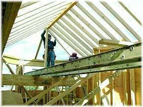 стропильная система четырехскатной вальмовой крыши