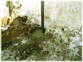 укрепление стоек бетоном