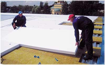 теплоизоляция плоской крыши листами пенопласта