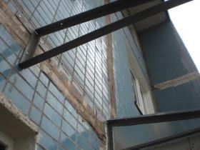 ферма для балконной крыши из уголка
