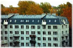 крыша мансардного типа много этажного дома