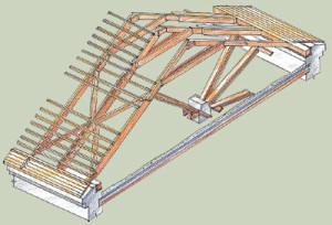 конструкция наслонных стропил