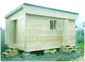 односкатная конструкция крыши бани
