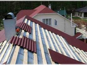 крыша из крашеного шифера