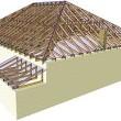 стрпильная система четырехскатной крыши