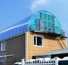 крыша арка из поликарбоната