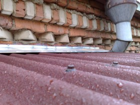 балконная крыша из ондулина