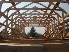 скатная крыша мансардного типа
