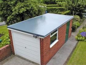 плоская крыша гаража