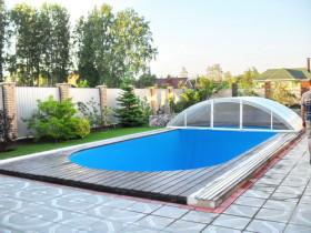 сдвижная крыша бассейна