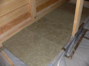 укладка базальтовых плит на потолок