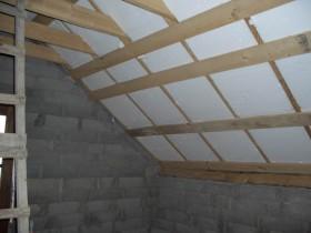 утепление крыши бани пенопластом