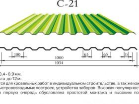 Профнастил марки С-21