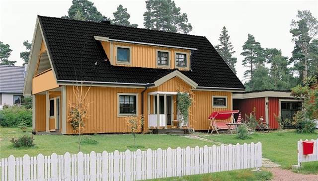 фото дома с черной крышей