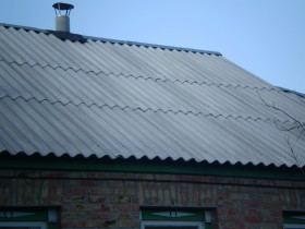 Шиферная крыша для дачи