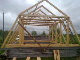 Стропильная система ломанной крыши