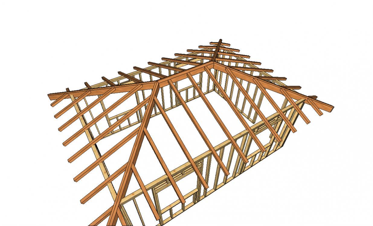 Шатровая крыша своими руками фото