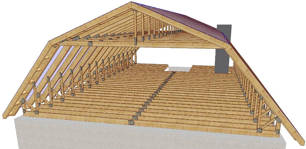 как сделать самому мансардную крышу