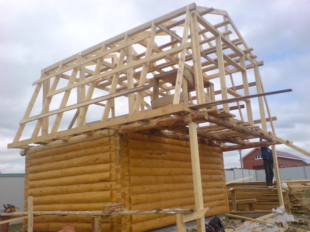 ролик как поставить крышу на дом