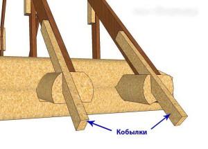 Как удлинить стропила с помощью  кобылок