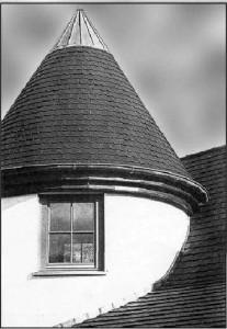Коническая крыша из черепицы