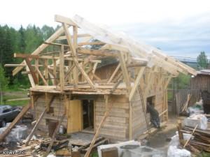 Стропильная система для крыши шале