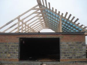 Обрешетка крыши гаража