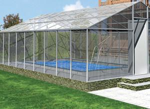 Поликарбонатная крыша для бассейна