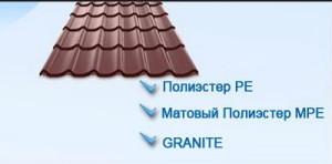 Цена черепицы зависит от полимерного покрытия
